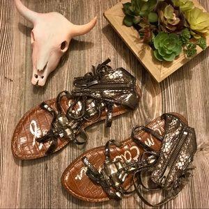 {sam edelman} hudson jeweled gladiator sandals 7.5